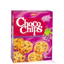 Choco chips cookies with Raisin 330g