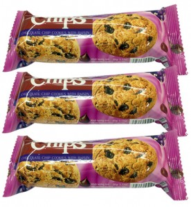 Choco chips cookies with Raisin  80g