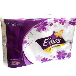 Toilet-paper E'mos Premium 2-layer paper x 6