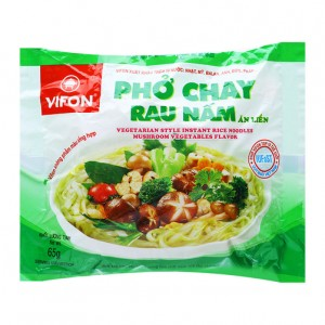 Vifon Vegetarian Style Instant Rice Noodles mushroom vegetable Flavor 65g