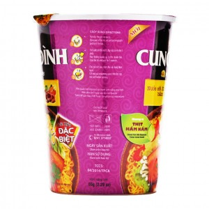 Cung Dinh Stewd pork with mushroom flavour instant noodle 65g – Cup