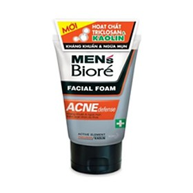 Bioré Men's Acne & Oil Defense Cleanser 100g