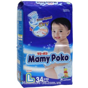MamyPoko Diaper L34 – 34pcs/bag (9-14kg)