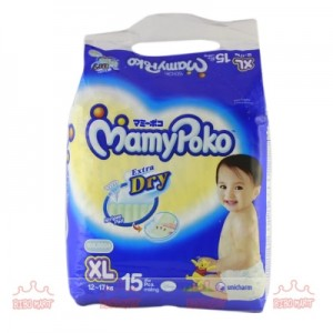MamyPoko Baby Diaper XL15 – 15pcs/bag (12-17kg)