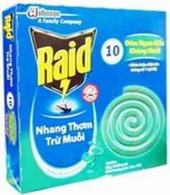 Raid  Mosquito coil Eucalyptus Fragrance – 10 Coils