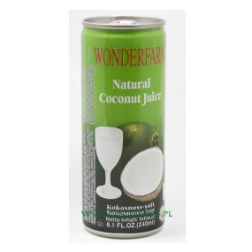 Wonderfarm Canned Natural Coconut Juice 240ml