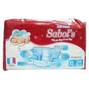 Sabol's Baby Diapers XL26