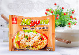 Miyumi noodles with minced tender pork rib 65g