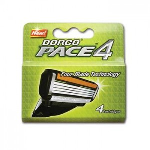 Top Blade Dorco Pace 4 ( Refill) (4pcs/ pack, 12pack/box, 2box/case)