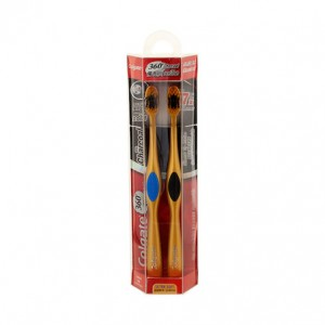 Colgate Toothbrush 360 Charcoal  gold – 6pc/Stray
