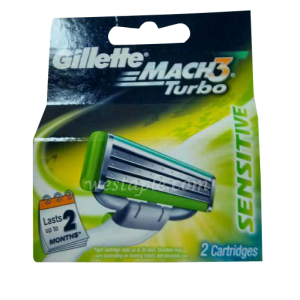Gillette Mach 3 Blade Aloe 4pc 12pack/box, 6/case)