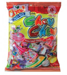 Chew Candy Assorted chewy candy 110pcs/pack – 350g