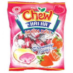 Chew filling candy  Strawberry chewy filling candy 29pcs/ pack – 125g