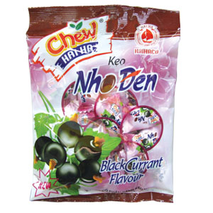 Chew filling candy  Blackcurrant chewy filling candy 29pcs/ pack – 125g