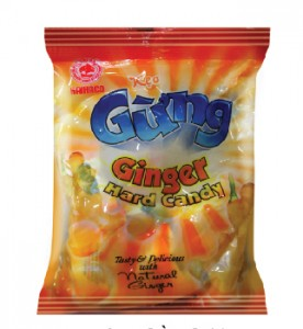 Hard and Hard filling candy  Ginger hard candy 24 pcs/bag – 80g