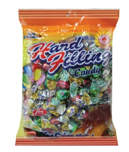 Hard and Hard filling candy Assorted fruit hard filling candy 720g