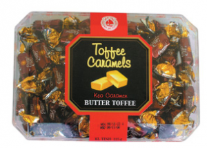 Gift Palstic Box candy Toffee caramel candy 225g