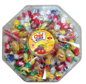 Assorted chew filling candy box 300g
