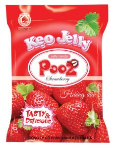 Jelly Candy  POOZ strawberry jelly candy 100 gram