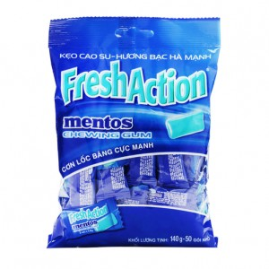 Mentos Chewing gum Fresh Action 140g- 50 vien
