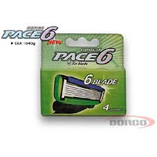 Top Blade Dorco Pace 6 ( Refill) (4pcs/ pack, 12pack/box, 2box/case)