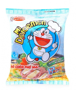 Beef noodle rolls with cheese flavor 62g pack Doraemon