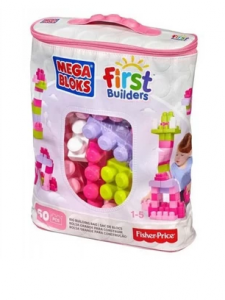 Basic Blocks big pink bag (60 blocks) MEGA BLOKS DCH54