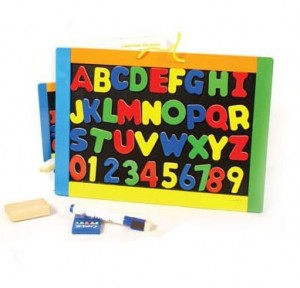 Alphanumeric magnet board