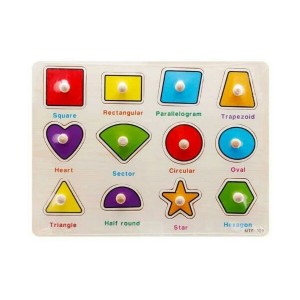 Table of geometric shapes with wooden knob 1211