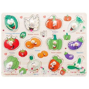 Vegetable jigsaw puzzle with wooden knob 1213