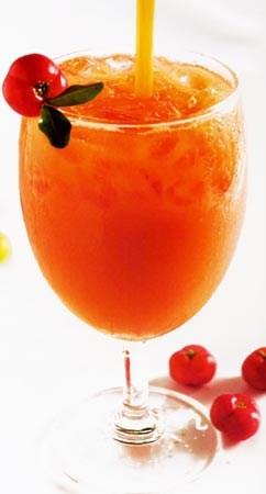 Frozen acerolla juice