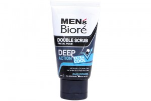 Biore Men Double Scrub Facial Foam Deeo Action Extra Cool 50g