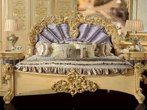 Bed neo-classical style luxury royal G38-1