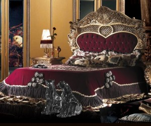 Royal bed carved classic pattern G98-1