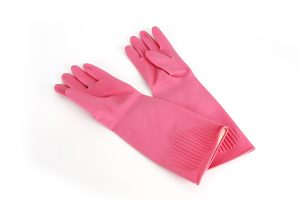 Household latex rubber gloves