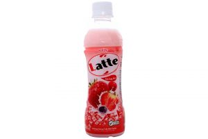 Soft Drink Latte Strawberry Flavor Bottle  345ml