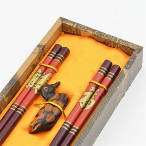 Carved wooden chopsticks Made in Vietnam 04