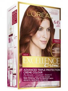 Excellence creme advanced triple 6.45 light auburn