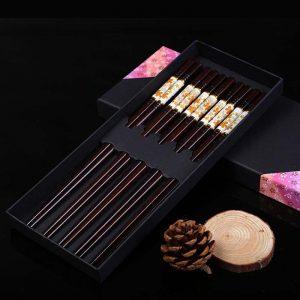 Carved wooden chopsticks Made in Vietnam 07