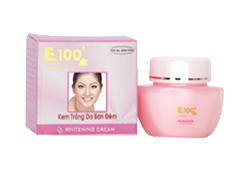 E100 Skin care whitenning for night