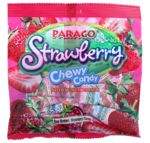 Strawberry Chewy Candy Rasa Stroberi Flavor 60g