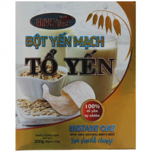 Instant Oat With 100% Natural Bird's Nest 200g (8 sachet * 25g)