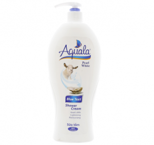 Aquala Blue Text Shower Cream 1.2L