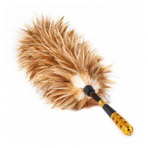 Chicken feather broom