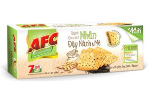 Cracker with Filling Soy Bean and Sesame 168g (7sachet)