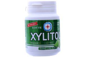 Sugar free gum Lotte Xylitol lemon flavor, mint 58g