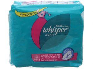 Sanitation Whisper Wings 10 pads