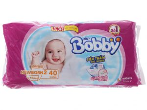 Bobby's Newborn Pads Size NB2 more than one month 40 pcs