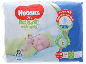 Huggies's Newborn Pads Size NB1 less than 5kg 56 Pcs