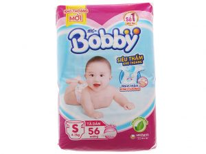 Bobby's Baby Diapers Fresh Size S 4 – 7kg 56 pcs